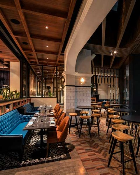 Inside and outside meets at The Bourbon, design by Paul Kelly Design
