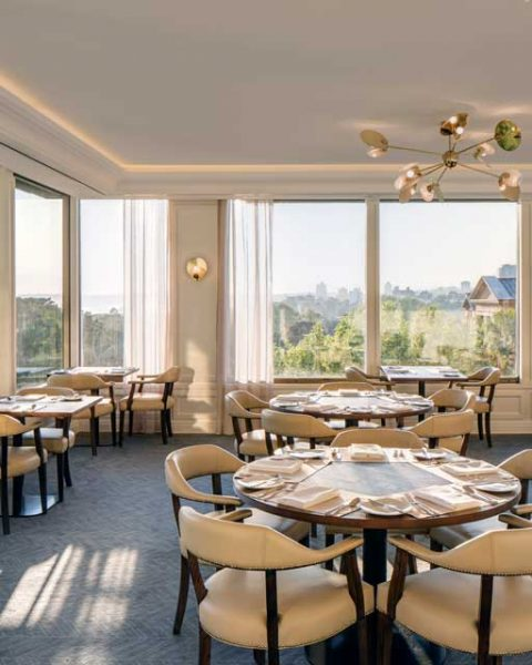 Corner view from the dining room at Private Club designed by Paul Kelly Design