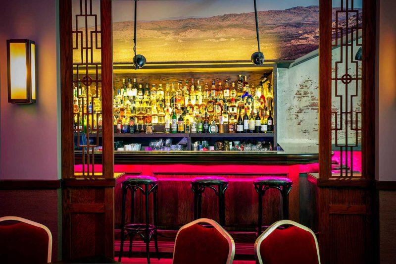 Smoking Panda photo of the bar through doorway Paul Kelly Design