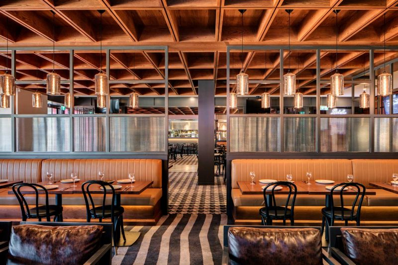 Interior view of restaurant area at St Johns Park Paul Kelly Design