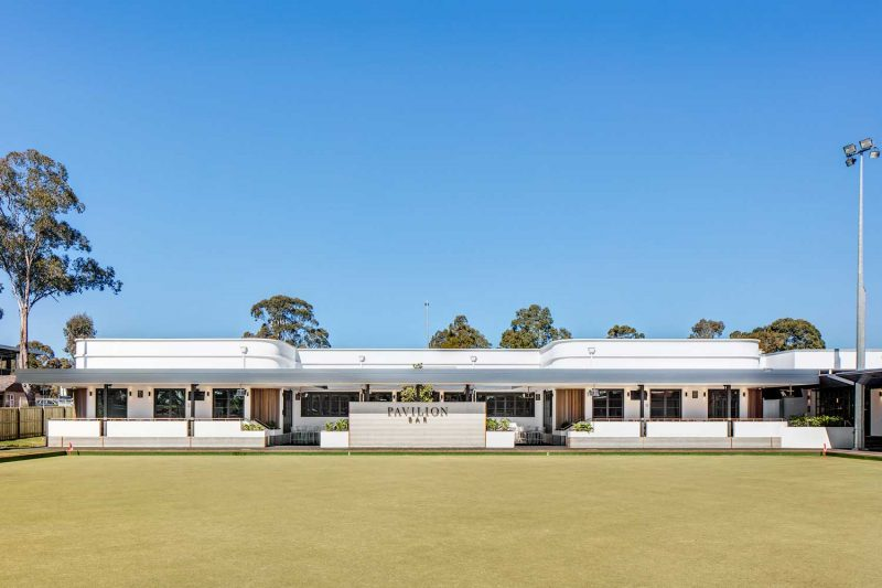Wide exterior photo of St Johns Park by Paul Kelly Design