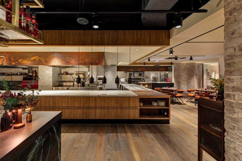 Paul Kelly Design District Dining Chifley custom heat treated metal timber