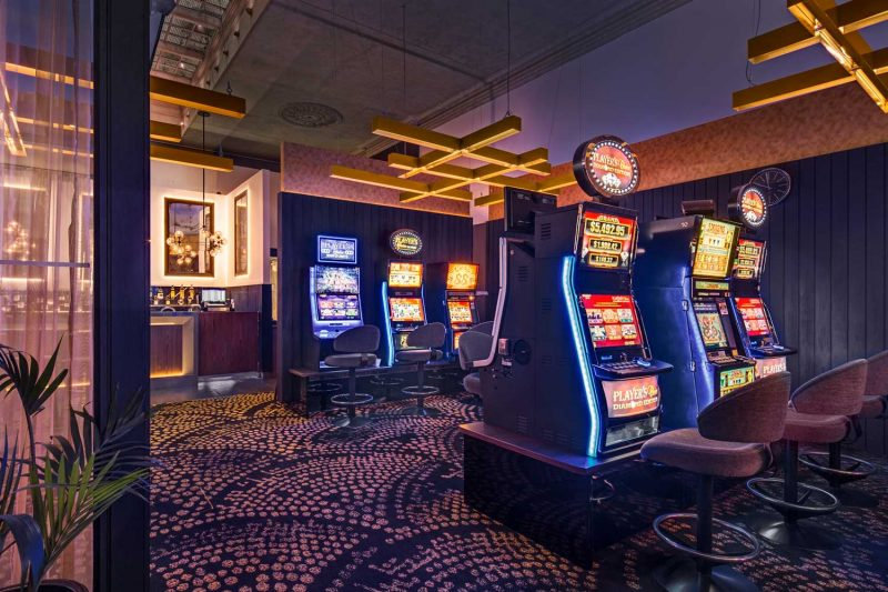 Another view of the gaming facilities at The Arthouse Hotel, design by Paul Kelly Design