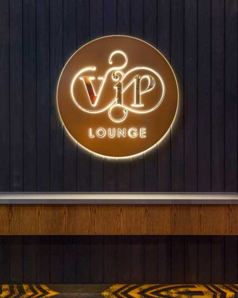 VIP signage at The Arthouse Hotel, design by Paul Kelly Design
