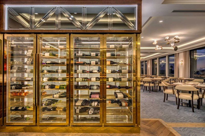 Wins storage at Private Club, designed by Paul Kelly Design