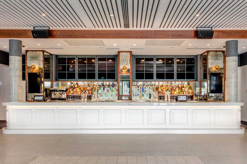A bar at St Johns Park by Paul Kelly Design