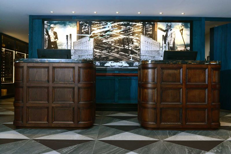 Front on view of the reception area at Tamworth Powerhouse, design by Paul Kelly Design