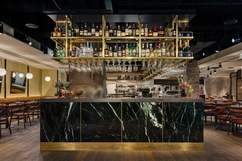 Paul Kelly Design Restaurant Green Stone Brass District Dining Chifley