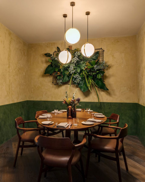 Paul Kelly Design District Dining Chifley Wall Flower Pendants Private Dining